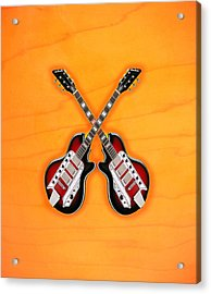 Cool Vintage Guitar Acrylic Print by Doron Mafdoos