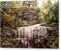 Cool Waterfall Acrylic Print by Dorothy Maier