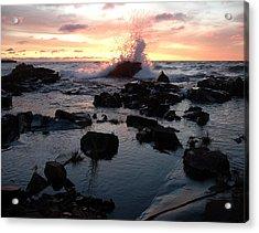 Cool Wave At Sunup Acrylic Print by Sandra Updyke