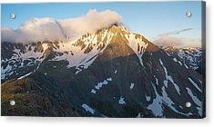 Cool Whip - Mountain Sunrise Acrylic Print by Aaron Spong