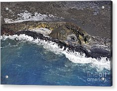 Cooled Lava Fields By Pacific Ocean Acrylic Print by Sami Sarkis