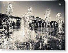 Coolidge Park Fountains Acrylic Print
