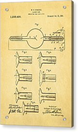 Coolidge X-ray Tube Patent Art 1913 Acrylic Print by Ian Monk