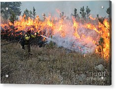 Cooling Down The Norbeck Prescribed Fire. Acrylic Print