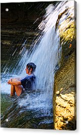 Cooling Off At Stony Brook State Park Acrylic Print