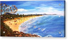 Acrylic Print featuring the painting Coolum Beach by Renate Voigt