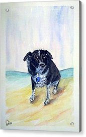 Acrylic Print featuring the painting Coop Dog Sold by Richard Benson