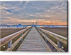 Cooper River Marina Acrylic Print by Donnie Smith