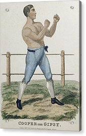 Cooper The Gipsy, Engraved By P Acrylic Print by Isaac Robert Cruikshank