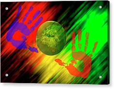 Cooperation Acrylic Print by Carol & Mike Werner
