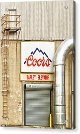 Coors Barley Elevator  Acrylic Print by James BO  Insogna