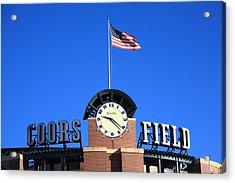 Coors Field - Colorado Rockies Acrylic Print by Frank Romeo