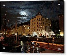 Copenhagen At Night Acrylic Print
