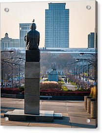 Copernicus Watches Over Chicago Acrylic Print by Cliff C Morris Jr