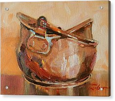 Copper Bowl Acrylic Print by Ron Wilson