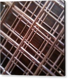 Copper Plaid Acrylic Print by Jaime Neo