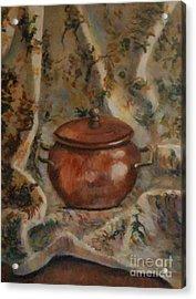 Copper Pot Acrylic Print by Jana Baker