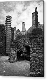 Copper Pot Stills And Column Still At Lockes Distillery Bw Acrylic Print