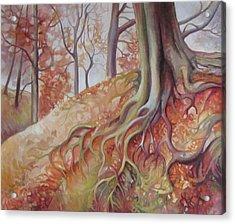 Copper Rustle Acrylic Print by Elena Oleniuc