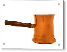 Copper Sauce Pan Acrylic Print by Olivier Le Queinec