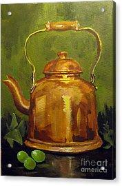 Copper Teakettle Acrylic Print by Carol Hart