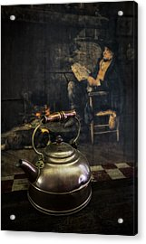 Copper Teapot Acrylic Print by Debra and Dave Vanderlaan