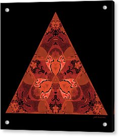 Copper Triangle Abstract Acrylic Print