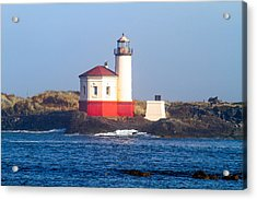 Acrylic Print featuring the photograph Coquille Lighthouse by Dennis Bucklin
