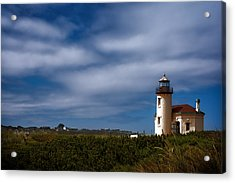 Coquille River Lighthouse Acrylic Print by Joan Carroll