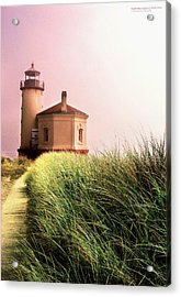 Coquille River Lighthouse Oregon Acrylic Print by Rafael Escalios