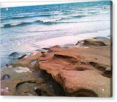 Coquina Blue Acrylic Print by Julie Wilcox