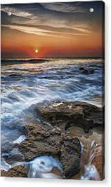 Coquina Sunrise II Acrylic Print by Mike Lang
