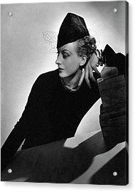 Cora Hemmet Wearing Rose Descat Acrylic Print
