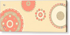 Acrylic Print featuring the digital art Coral And Cork by Kjirsten Collier