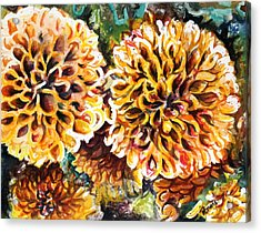 Coral Flowers Acrylic Print