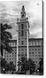 Coral Gables Biltmore Hotel In Black And White Acrylic Print