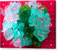 Coral Pop Acrylic Print