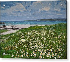 Coral Strand On A Windy Day Connemara Acrylic Print