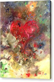 Corazon Acrylic Print by Julio Lopez