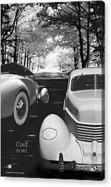 Cord 810/812 Bw Acrylic Print