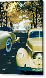 Acrylic Print featuring the photograph Cord 810-812  by Ed Dooley
