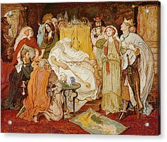 Cordelias Portion, C.1867-75 Acrylic Print by Ford Madox Brown