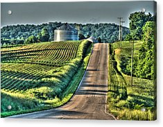 Corduroy Corn And Seersucker Silos Acrylic Print