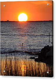 Core Sound Sunset Acrylic Print by James Lewis