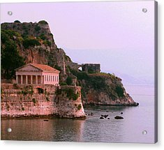 Corfu Pavillion Acrylic Print by Tamyra Crossley