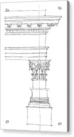 Corinthian Order Acrylic Print by Calvin Durham
