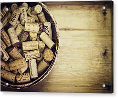 Cork Collection Acrylic Print by Heather Applegate