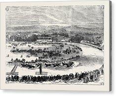 Cork Park Races The Grand National Steeplechase 1869 Acrylic Print