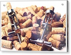 Corks And Corkscrews  Acrylic Print by Stefano Senise