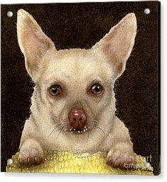 Corn Dog... Acrylic Print by Will Bullas
